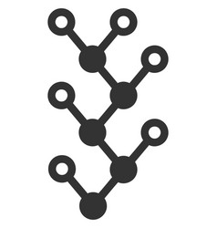 flat binary tree icon vector image