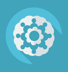 Flat modern design with shadow flower icon vector