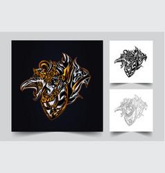 garuda balinese indonesian culture artwork vector image