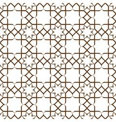 Geometric seamless stylized flower pattern vector