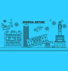 Georgia batumi winter holidays skyline merry vector