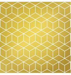 gold and white cube shape background pattern vector image