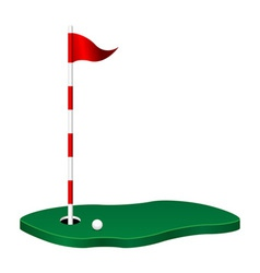 golf theme vector image