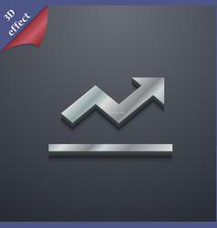 Graph chart Diagram icon symbol 3D style Trendy vector