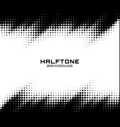 Halftone dots grunge texture horizontal background vector