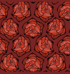 halloween seamless pattern with roses vector image