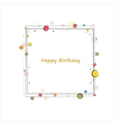 Happy birthday frame vector image