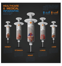 Healthcare And Medical Infographic With Syringe Of vector