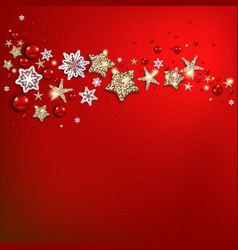 Holiday red christmas card vector