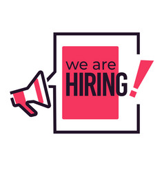 Job vacancy hiring isolated icon speech bubble vector
