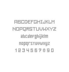 Lego font vector