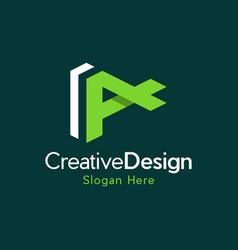 letter a creative business modern logo vector image