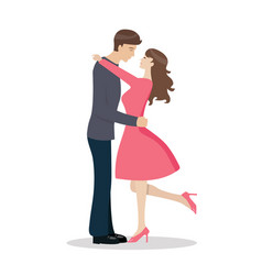 loving couple are kissing vector image