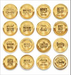 Luxury sale golden labels collection vector