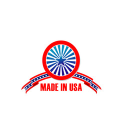 made in usa icon of star and stripes vector image