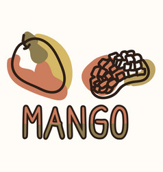 Mango fruit with text gender neutral baby vector