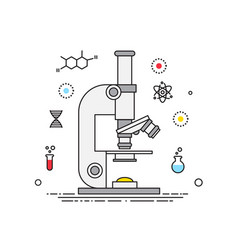 microscope lines design science elements vector image