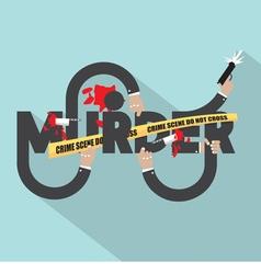 Murder Typography Design vector image