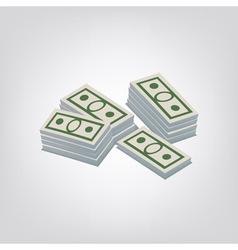 Pack of dollars vector