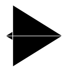 Paper airplane black color icon vector