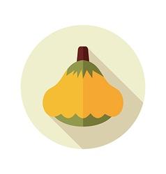 Pattypan squash flat icon Vegetable vector