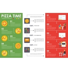 Pizza Time infographic elements Flat concept web vector image