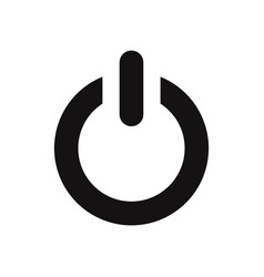 power icon electric power sign isolated on white vector image
