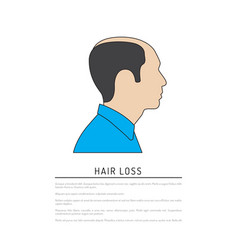 Profile man flat vector