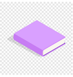 purple book isometric icon vector image