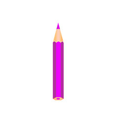 purple color wooden pencil vector image