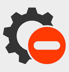 Remove settings gear icon vector
