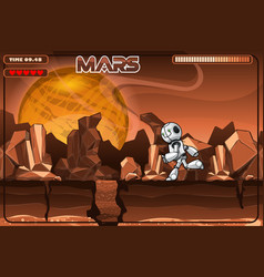 running robot on mars excerpt from game vector image