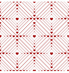 seamless pattern small of dots and hearts vector image