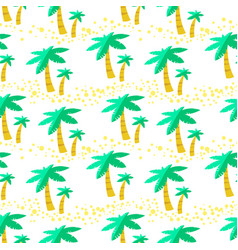 seamless pattern with palms background with vector image
