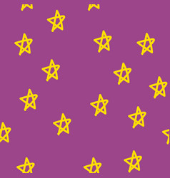seamless pattern with stars kawaii style vector image