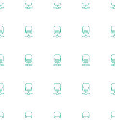 server icon pattern seamless white background vector image