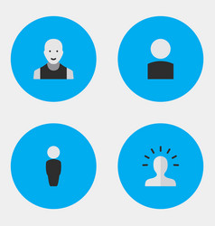 set of simple person icons vector image
