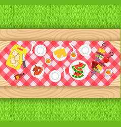 summer barbecue picnic background vector image