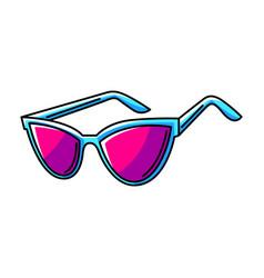Sunglasses colorful cute cartoon vector