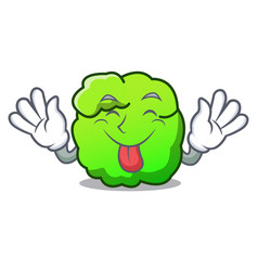 Tongue out shrub mascot cartoon style vector