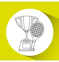 trophy gold design vector image