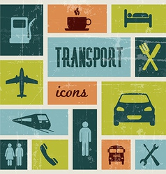 Vintage transport poster vector
