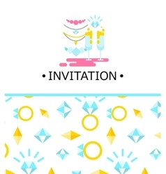 wedding of invitation vector image