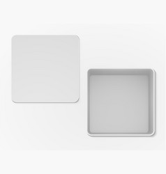 white open empty box top view vector image