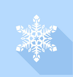 white snowflake icon flat style vector image