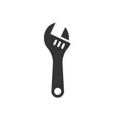 Wrench icon in flat style spanner key on white vector