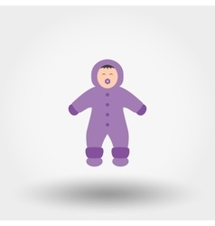 Child in winter overalls Icon vector image vector image