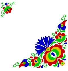 Moravian folk ornament vector image vector image
