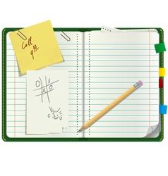 Personal paper organizer vector