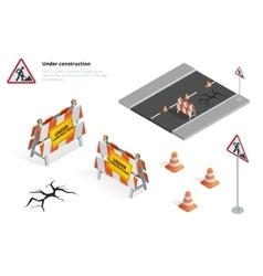 Road repair under construction road sign Repairs vector image vector image